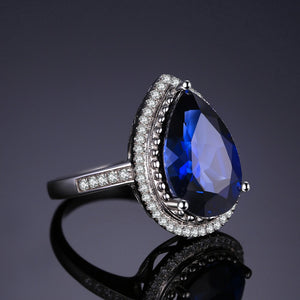 Natural 7ct Sapphire September Birthstone Ring