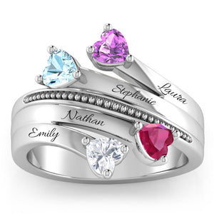 Our Family of 4 Gemstone Ring