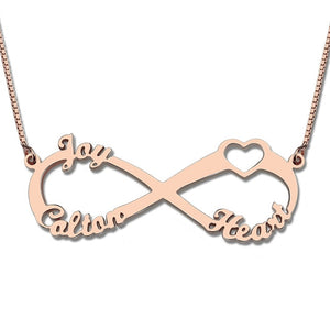 Infinity Name Necklace with 3 Names