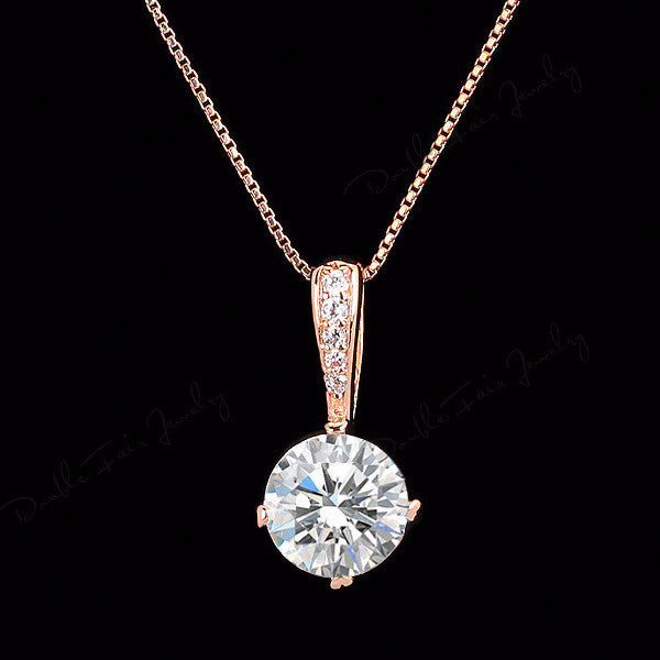 18K Rose Gold Plated Necklace