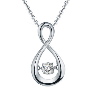 S925 Madison Natural April DiamondTopaz Spinning Pendant