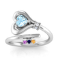 Key to My Heart Ring up to 4 Birthstones