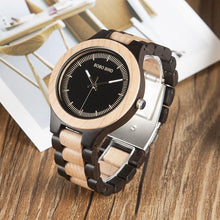 Watches - Two-Tone Wood Frame Watch