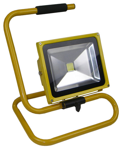 LED Floodlight 30W Yellow Body Black Head 110V - Greendays Lighting Ltd