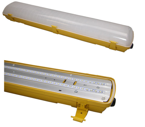 LED 20W IP65 NCF 655mm 4100K 110V Yellow/Opal - Greendays Lighting Ltd