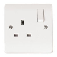 Click Mode Single Plug Socket Switched 13 Amp Double Pole - Greendays Lighting Ltd