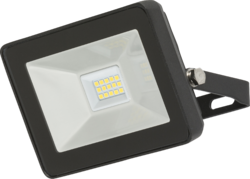 Knightsbridge IP65 10W LED Black Die-Cast Aluminium Ultra-slim Floodlight 4000K - Greendays Lighting Ltd