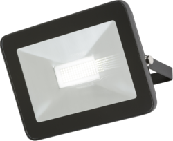 Knightsbridge IP65 50W LED Black Die-Cast Aluminium Ultra-slim Floodlight 4000K - Greendays Lighting Ltd