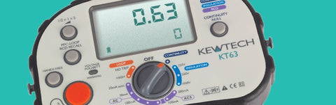 Kewtech - KT63 Digital 5-in-1 Multifunction Tester - Greendays Lighting Ltd