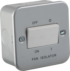 Knightsbridge Metal Clad 10A fan isolator switch - Greendays Lighting Ltd