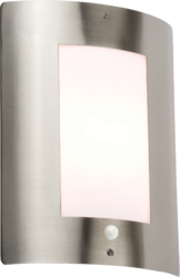 Knightsbridge IP44 E27 40 Watt Max Outdoor Wall Fixture Stainless Steel comes with PIR - Greendays Lighting Ltd