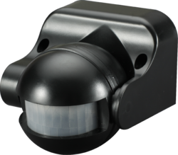 Knightbridge IP44 180° PIR sensor - Black - Greendays Lighting Ltd