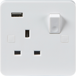Pure Range 13A Switched Sockets with USB charging - Greendays Lighting Ltd
