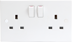 13A 2G DP Switched Socket- 12mm - Greendays Lighting Ltd