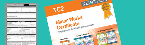 Kewtech - TC2 Minor Works Certificate - Greendays Lighting Ltd