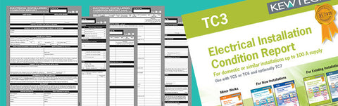 Kewtech - TC3 Elect. Installation condition report for up to 100A Supply - Greendays Lighting Ltd