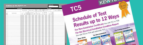 Kewtech - TC5 Shedule of Test results 12 Ways - Greendays Lighting Ltd