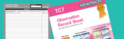 Kewtech - TC7 Observation Record Sheet - Greendays Lighting Ltd