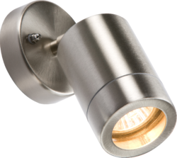 Knightsbridge IP65 GU10 35 Watt Adjustable Wall Light Stainless Steel - Greendays Lighting Ltd