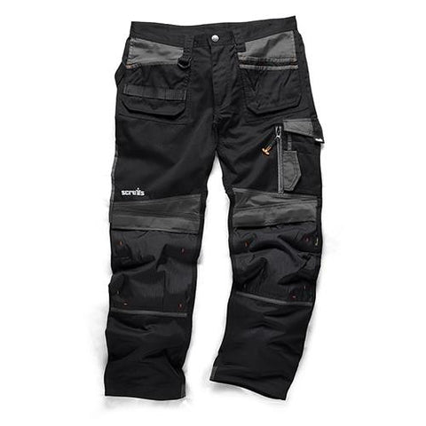 Scruffs 3D Trade Trousers - Black - Greendays Lighting Ltd