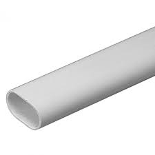 Schneider Mita OVL25W 25mm White PVC Oval Conduit 3m Length - Greendays Lighting Ltd