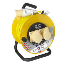 Schneider Jo-Jo JJR22516 Extension Reel 25 metre 110 Volt (2x16A Sockets) Max 1.76kW - Greendays Lighting Ltd