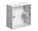 Schneider Mita KBU441W 1g 44mm Square Corner PVC 20mm Conduit Entry Box - Greendays Lighting Ltd