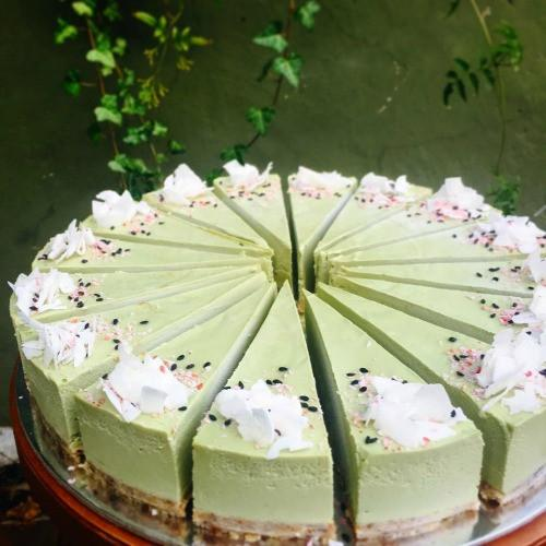 Matcha Coconut Raw Vegan Cheesecake