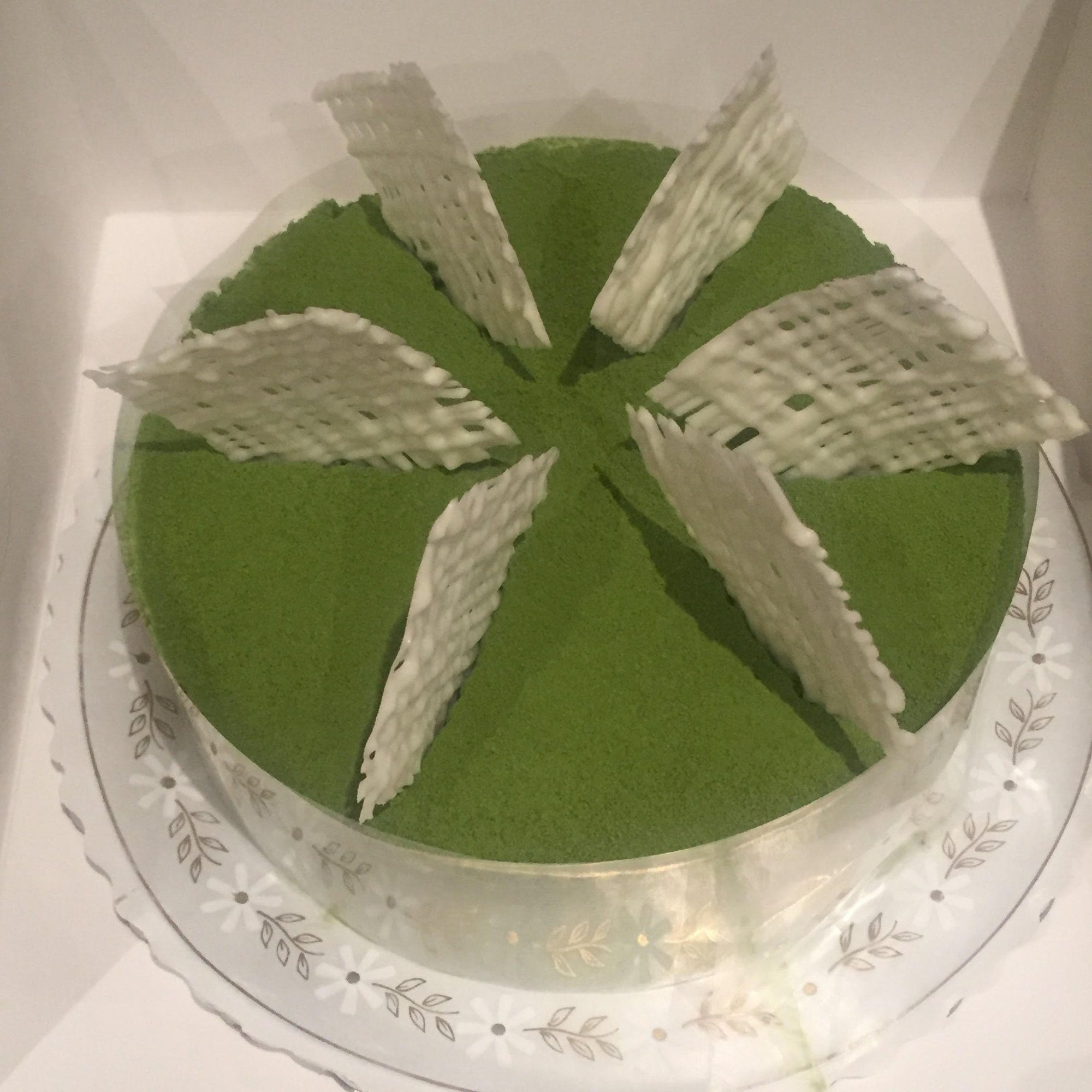 Matcha Adzuki Green Tea Mousse Cake