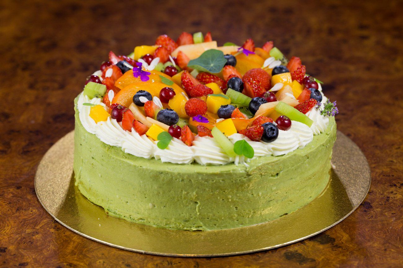 Matcha Green Tea Fruit Cake