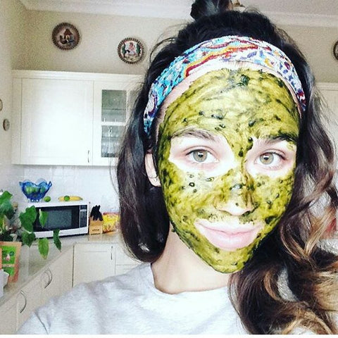 Face mask used Kenko Matcha Powder for a beautiful and glowing skin