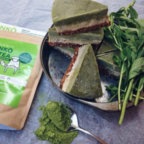 Vegan Matcha Cake is baked with Kenko Matcha Cooking Grade
