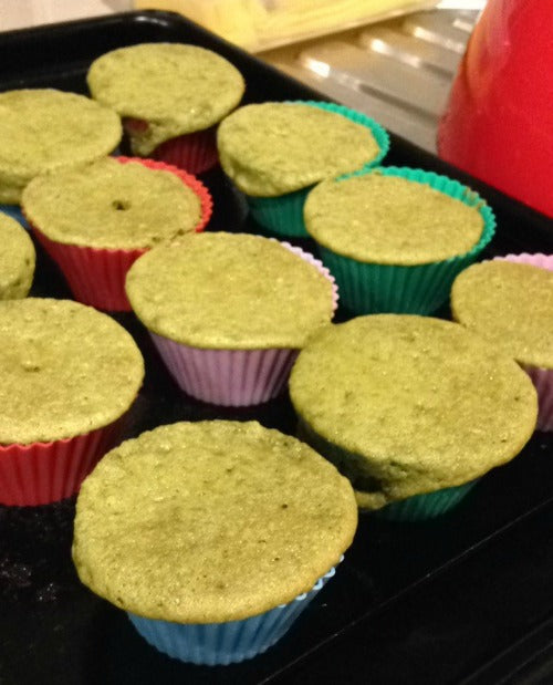 Matcha green tea cupcakes are freshly baked by @poolie80