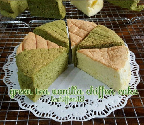 Alternate Matcha & Vanilla Chiffon Cake Recipe - Soft, fluffy, and sweetly delicious cake for parties, family gathering or your special occasions
