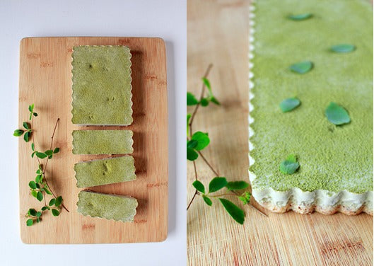 Matcha ice cream hazelnut tart is the refreshing dessert for the summery heat