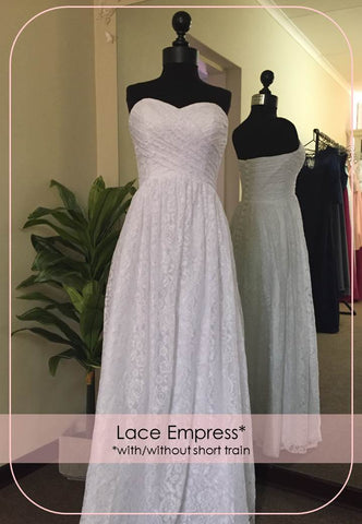 Lace Overlay Empress Wedding Dress