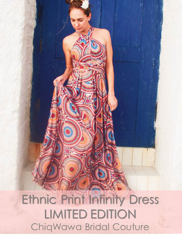 LIMITED EDITION Ethnic Print Infinity Dress