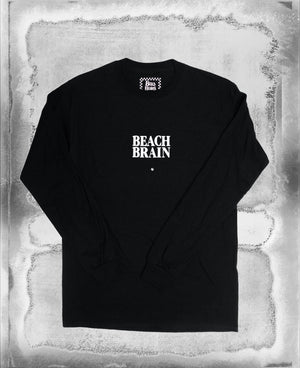 Beach Brain LS Tee Black