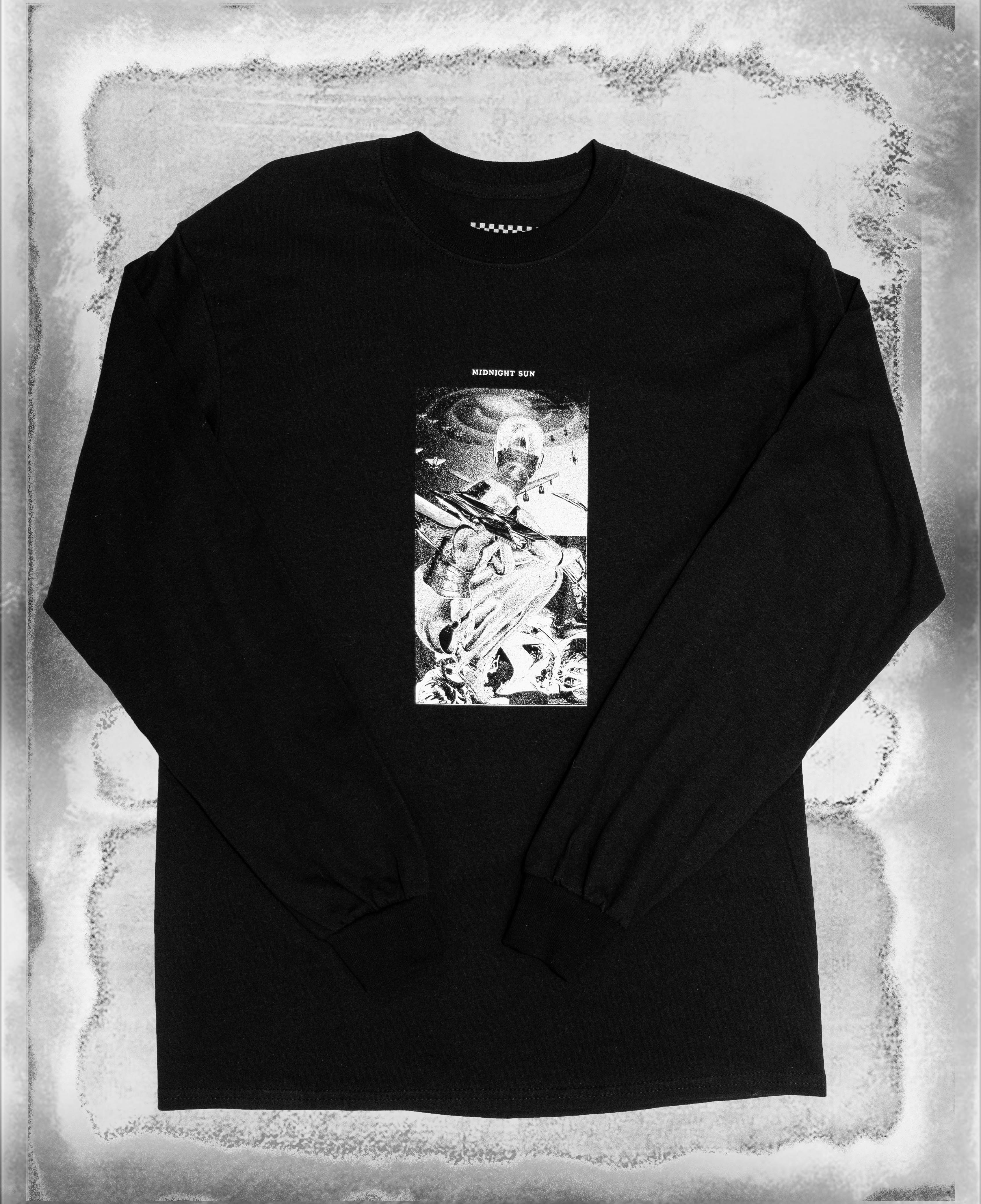 Midnight Sun LS Tee Black