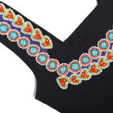 Luxury black swimsuit hand beaded detail