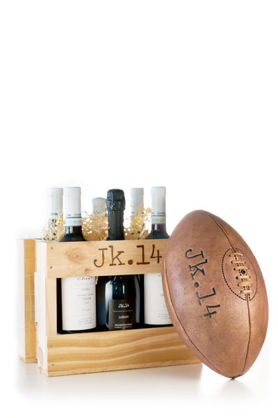 MIXED CASE + RUGBY LEATHER VINTAGE BALL