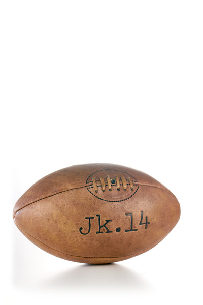 JK14 LEATHER VINTAGE RUGBY BALL