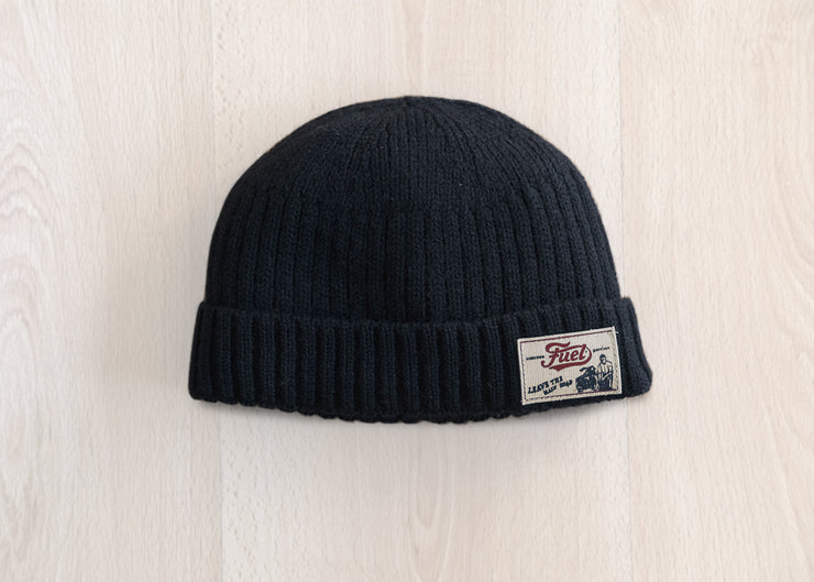"FUEL ""DOCKYARD"" BLACK BEANIE"