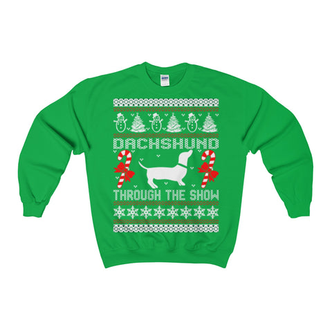 dachshund through the-snow christmas ugly sweatshirt - Vietees Shop Online