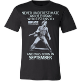 Never Underestimate an Old Man who listens to Bruce Springsteen and was born in September T-shirt - Vietees Shop Online