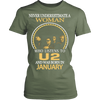 Image of Never Underestimate a Woman who listens to U2 and was born in January T-shirt - Vietees Shop Online