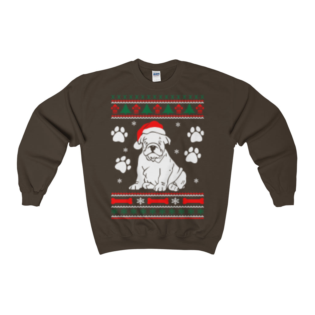 Bulldog Dog Ugly Christmas Sweatshirt Xmas - Vietees Shop Online