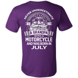 Never Underestimate a Grandpa with a Motorcycle and was born in July T-shirt - Vietees Shop Online