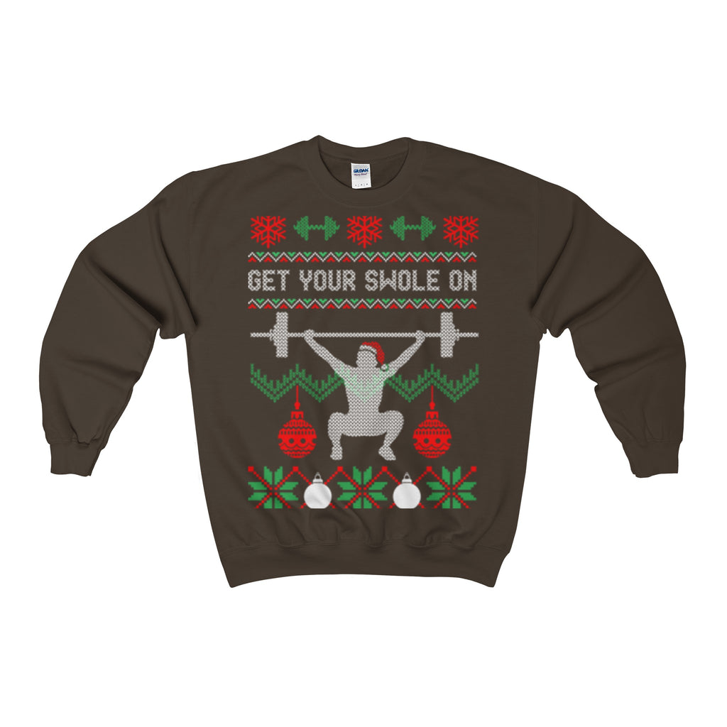 get your swole on christmas gym weights ugly sweatshirt - Vietees Shop Online