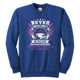 Never Underestimate An Old Man Who Graduated From The Drexel Institute of Technology Sweatshirt - Vietees Shop Online